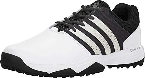 adidas Men's 360 Traxion Golf Shoe, FOOTWEAR WHITE/FOOTWEAR WHITE/CORE BLACK, 11.5 M US
