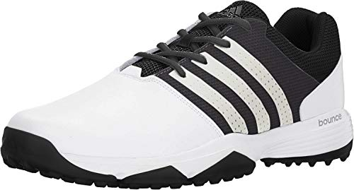 adidas Men's 360 Traxion Golf Shoe, FOOTWEAR WHITE/FOOTWEAR WHITE/CORE BLACK, 9.5 M US