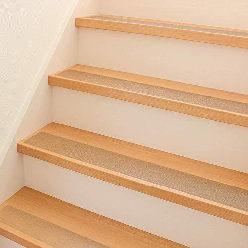 15 Stück Premium Antirutschstreifen für Treppen 60x10cm, Transparent Selbstklebende Treppenstufen Stufenmatten| Starker Klebstoff & Einfach zu Verwenden - Rutschschutz für Baby Kinder Erwachsene.