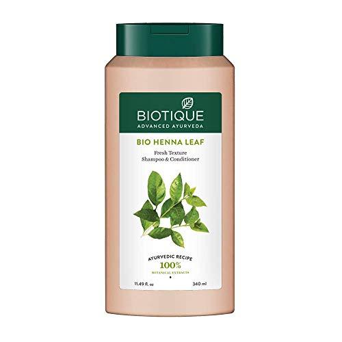 Biotique Bio Henna Leaf Fresh Texture Shampoo & Conditioner, 340 ml