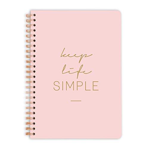 purepaper Notizblock | Notizbuch | Spiralblock | Bullet Journal | keep life simple, DIN A5, Softcover, 120g, gepunket, dotted, punktkariert, dot grid, 120 Seiten