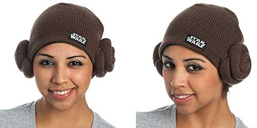 Star Wars Princess Leia Buns Adult Costume Knit Hat