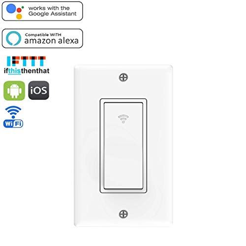 RtTech Smart Switch, Interruptor inteligente de luz WiFi, mando a distancia inalámbrico, Interruptor…