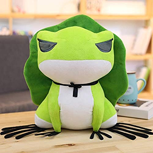 LFSLAS Plush Toy Cute Travel Frog Plush Toy Japanese Action Figure Game Cartoon Frog Soft Animals Dolls Birthday for Kids