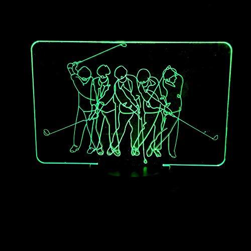 GDICONIC Lámpara de Mesa LED Colorido Degradado Golf 3D estéreo táctil Control Remoto USB lámpara de Mesa luz de Noche Junto a la Cama decoración Creativa Escritorio Cumplea 20 * 13 cm