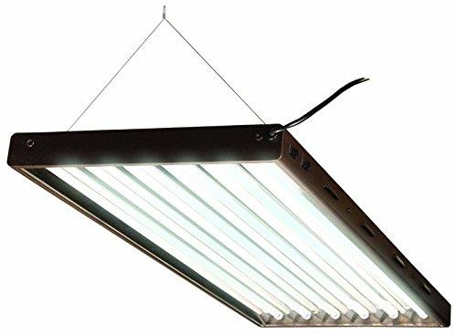Hydrofarm Agrobrite Flp46, 4' Fixture with Lamps, 4 Foot, Black