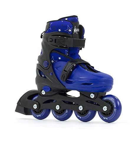 Sfr Skates SFR Plasma Adjustable Inline Skates Pattini Pattini Unisex Bambini, Nero/Blu 29-33