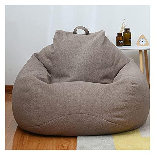 Sofá Lounger Lazy Couch Grandes pequeños sofás perezosos cubiertas de sillas sin relleno de lino de tela de tumbona bolsa de frijol de frijol Puf Puff sofá sala de estar Silla de sofá de ocio