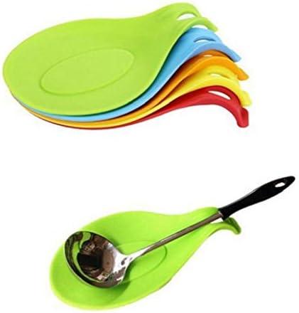 1 st Siliconen Lepel Rest Hittebestendige Lepel Houder Lepel Pad Eten Mat Koken Gebruiksvoorwerp Houder Keuken Accessoires