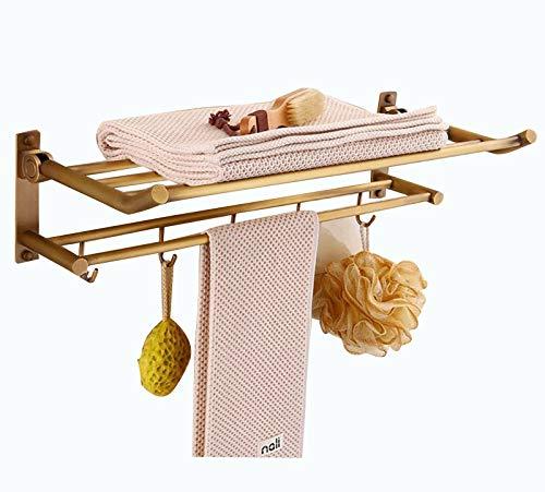 Toallero Baño Barra De Toalla De Acero Inoxidable Porta Toalla De Mano para Baño Cocina Hogar Hotel Restaurante para Cocina Y Baño Robusto Y Estable (Color : Gold)