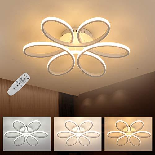 LED Lampada da soffitto, creativo forma di fiore plafoniera, dimmerabile con telecomando, acrilico in paralume, moderno elegante soggiorno camera da letto Illuminazione a soffitto 110W Φ740mm