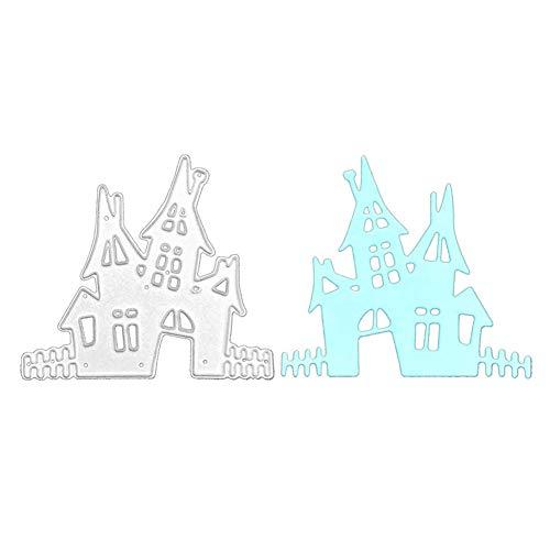 Castle House Die Cuts Stencil, Building Metal Cutting Die Cutting Die Template Scrabooking Supplies for Invitation Card Making, Paper Crafting, Envelope, Emboosing, DIY Photo Album