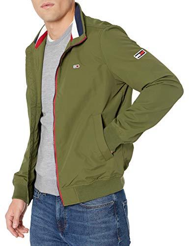 Tommy Hilfiger Tommy Jeans Men's Essential Bomber Jacket, Cypress, XX-Large