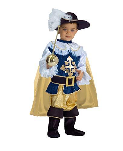 Ciao- Piccolo Moschettiere costume bambino (Taglia 3-4 anni), Blu/Oro, 3-4 anni, 14535.3-4