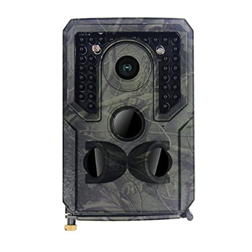 Hspemo Cámara de caza 16 MP 1080P HD, cámara de caza, visión nocturna, detector de movimiento, IP54, resistente al agua y al polvo, gran angular de 120°, cámara de visión nocturna con tarjeta