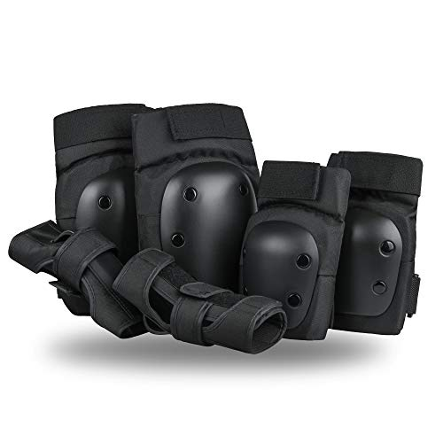 Szblaze Knee Pads Elbows Pads Wrist Guards 3 in 1 Safety Protective Gear Set for Skateboarding, Inline Roller Skating BMX Bicycle Scooter (M)