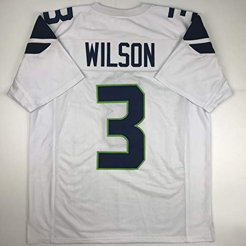 Unsigned Russell Wilson Seattle White Custom Stitched Football Jersey Size Men's XL New No Brands/Logos