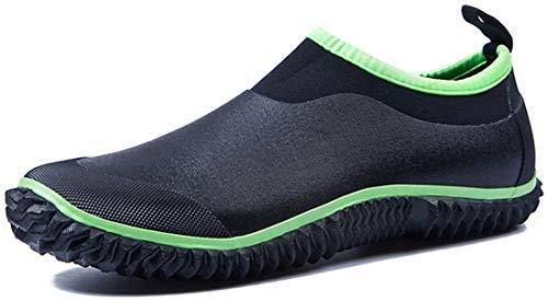 TENGTA Unisex Waterproof Garden Shoes Womens Rain Boots Mens Car Wash Footwear Green 9