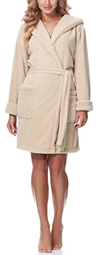 Merry Style Bata con Capucha Mujer 1GN2S (Beige, XXL)