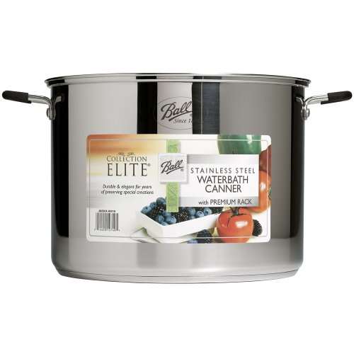 Ball Jar Collection Elite Stainless-Steel 21-Quart Waterbath Canner with Rack and Glass Lid (by Jarden Home Brands)