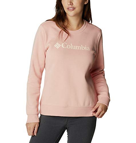 Columbia Top de cuello redondo con logo para mujer