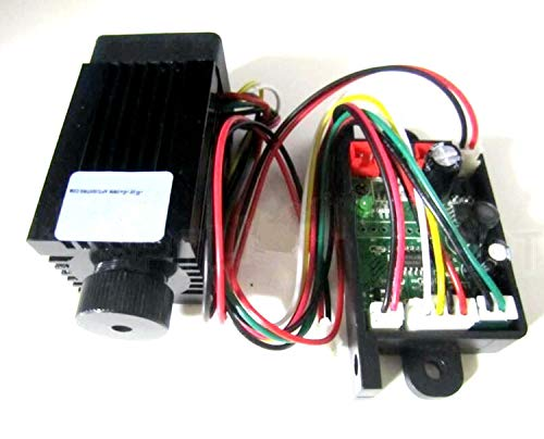 200mW 532nm Verde Láser Módulo/Focus DC12V TTL/Disipador de calor