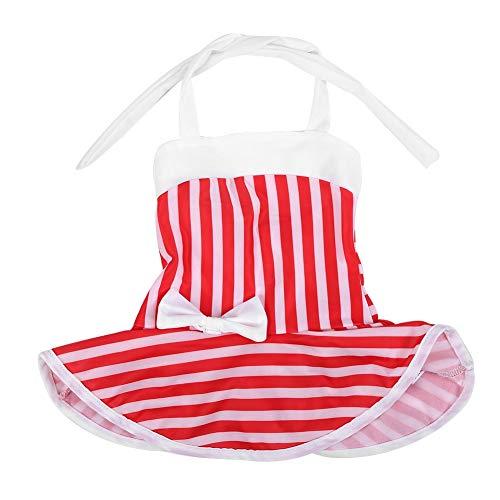 Baby meisjes zwemmen kostuum vlinderdas badpak leuke rood en wit gestreept badpak eendelige sling badmode voor 1-3 jaar oud 120 wit