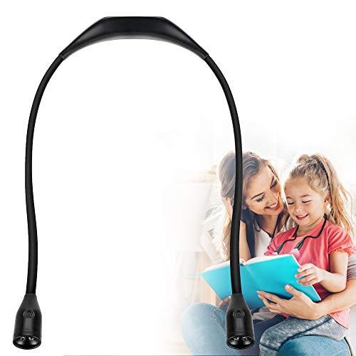 Haofy nek leeslamp met 3 instelbare helderheidsniveaus 4 LED-nachtlamp Oplaadbare USB-kabel Flexibele handsfree leeslamp voor boek/lezen/sport/buitenactiviteiten