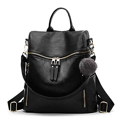 Women Backpack Purse Multi-pocket Waterproof Shoulder Bag Small Bookbag Purse for Girls Travel Bag