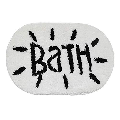 YSDDM badmat ovaal microvezel badmat mode zwart en wit badtapijt ingang deur mat non-slip keuken tapijt in bad matten van huis & tuin