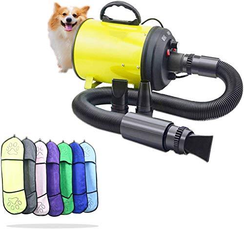 Hond Fön Professional 2200 W draagbare quiet instelbare snelheidsgrooming blazer voor baden reizen XTM558 dsnmm geel