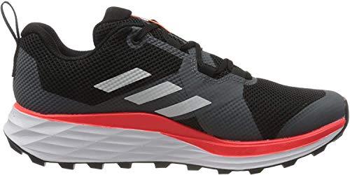 adidas Terrex Two, Zapatillas Deportivas para Hombre, Core Black/FTWR White/Solar Red