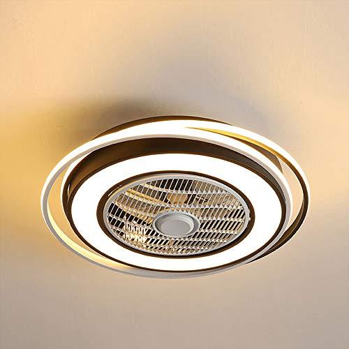 Dimmbarer LED-Deckenventilator mit Licht, mit Fernbedienung Smart Timing 1/2/4/8 Stunden Deckenventilator, dreistufiger Ventilator, dreifarbiger Lichtventilator, einstellbarer Innenventilator