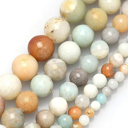 K-ONE Cuentas Sueltas de Piedras Preciosas Redondas Naturales 4 6 8 10 12Mm energía de curación de Piedra de energía de Cristal para Hacer Joyas Hk062