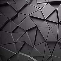 N/K カスタム3D写真壁画壁紙幾何学的な抽象的な灰色の三角形の背景寝室のソファのリビングルームテレビ装飾背景壁-200X140CM