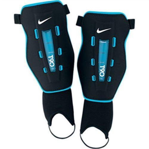 Nike T90Wrapt Shield Schienbeinschützer Fußballschuh Herren, Schwarz/Blau M Schwarz/Blau