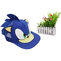 yuanchuang Juguete de Peluche Sonic Ajustable Azul Gorra De Béisbol Gorra Dibujos Animados Sombrero De Verano Juguete De Felpa De Un Tamaño Caliente