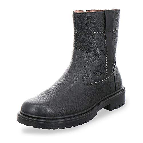 Jomos Air Comfort 456504 340 000 Herren Stiefel aus Glattleder Lammfellfutter in Weite H, Groesse 44, schwarz