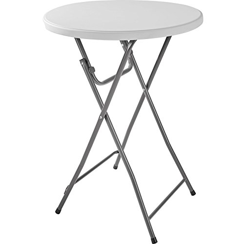 TecTake Table Haute de Bar bistrot Pliante | Bonne stabilité | (lxPxH) : env. 80 x 80 x 110 cm (1x Table | No. 402758)