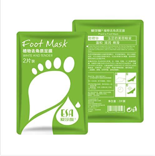 Reine Pflanzen-Peeling-Kallus-Fußmaske, Fußreparaturmaske für Männer und Frauen zur Reparatur rauer Fersen (3 Paare)