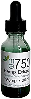 750mg Peppermint - Natural Flavor Organic High Potency 100% Hemp Extract Full Spectrum All Active Ingredient - Used For Relief - Anxiety - Inflammation - Arthritis - Lab Tested For Purity (Peppermint)