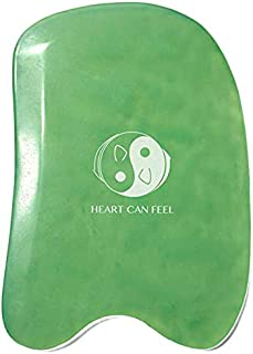Best Jade Gua Sha Scraping Massage Tool - High Quality Hand Made Jade Guasha Board - Great Tools for SPA Acupuncture Therapy Trigger Point Treatment on Face [Square]