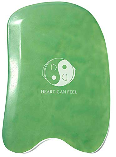 Best Jade Gua Sha Scraping Massage Tool - High Quality Hand Made Jade Guasha Board - Great...