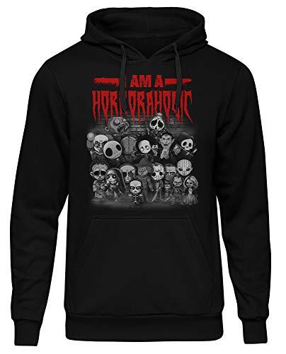Uglyshirt89 Horroraolic mannen Heren Hoodie | Horror Halloween Grusel Friends Nightmare Freddy Jason Clown