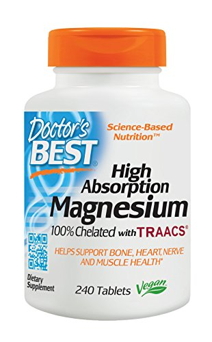 Doctor's Best 100mg High Absorption Magnesium Elemental 240 Tablets