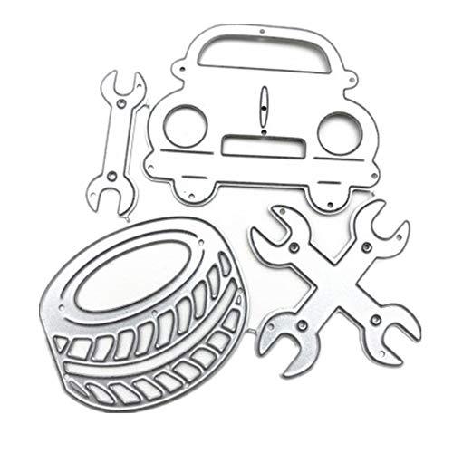 Junecake Reifen Werkzeuge Metall Stanzformen,Silber Stanzschablonen für DIY Cutting Dies Scrapbooking Album,Schneiden Schablonen Papier Karten Sammelalbum Deko