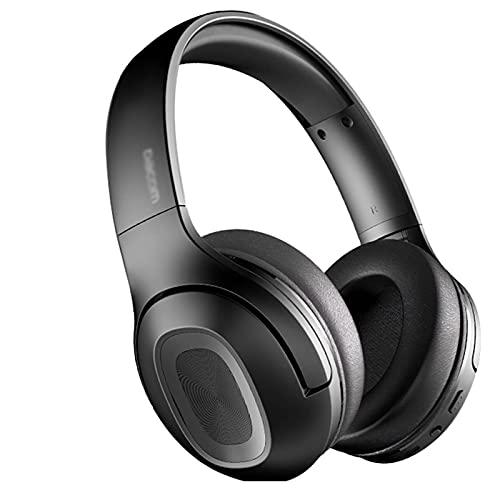 Auriculares Bluetooth Auriculares inalámbricos sobre Auriculares para la Oreja V5.0 con micrófono Plegable y liviano para teléfonos celulares para Juegos portátiles (Color : Black)