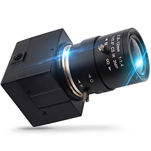 "2.8-12mm Varifocal Lens USB Camera 8 Megapixel Webcamera with Sony (1/3.2"") IMX179 Image Sensor Webcam Super High Difinition 3264X2448 USB with Camera Outdoor Indoor Webcamera for Video Systems"