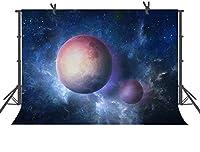 HD星空の背景10x7ft宇宙惑星の写真撮影の背景宇宙写真の小道具の部屋壁画天文学愛好家パーティーLYFU0109