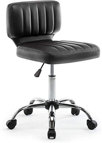 GSN Corazón giratoria trabajo heces, altura ajustable Taburete giratorio, 360 ° giratoria silla de la computadora, ergonómico Diseño de espalda semi-PU cuero de la oficina de heces, Salón Silla girato